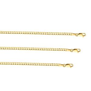 TGDJ Accessories - 14k Yellow 3.2 MM Wide Cuban Concave bracelet